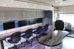 Interior photo of Mobile Workforce Unit