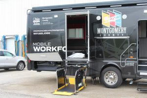 Wheelchair lift on Mobile Workforce Unit
